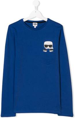 Karl Lagerfeld TEEN pocket print T-shirt