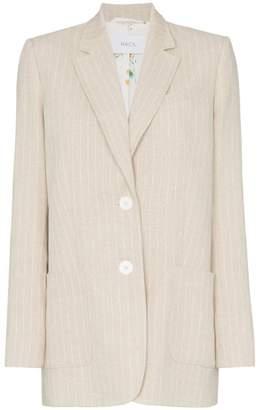 e3ce40ee580 Racil Alfie single-breasted striped-linen blazer