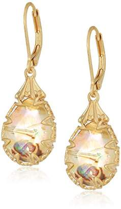 lonna & lilly Gold Tone Pear Stone Drop Earrings