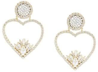 Shourouk glitter heart earrings