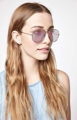 LA Hearts Basic Rose Gold Aviator Sunglasses