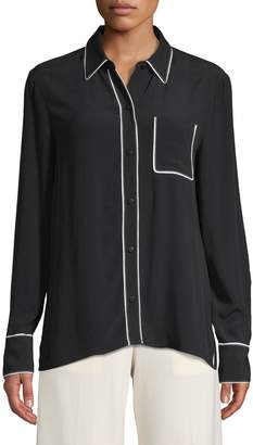 Equipment Long-Sleeve Button-Down Shirt