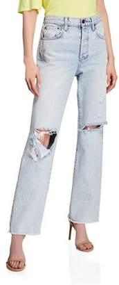 Alice + Olivia JEANS Amazing High-Rise Boyfriend Jeans