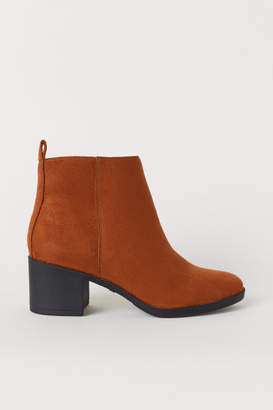 H&M Ankle Boots with Zip - Beige