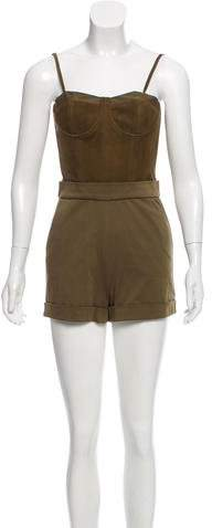 Alice + Olivia Suede Utility Romper w/ Tags