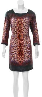 Just Cavalli Silk Printed Dress