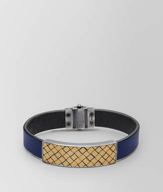 Bottega Veneta ATLANTIC LEATHER/ANTIQUE SILVER BRACELET