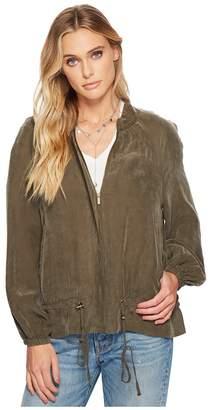 1 STATE 1.STATE Blouson Sleeve Bomber Jacket Women's Coat