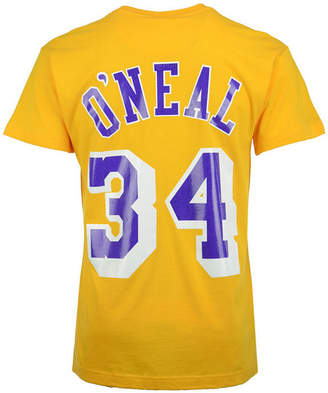Mitchell & Ness Men's Shaquille O'Neal Los Angeles Lakers Hardwood Classic Player T-Shirt