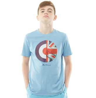 Ben Sherman Junior Boys Union Jack Target T-Shirt Allure Blue