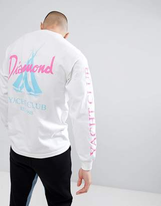 Diamond Supply Co. Voyage Long Sleeve T-Shirt In White