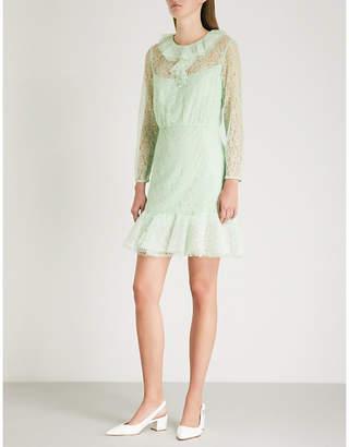 Sandro Ruffled lace dress