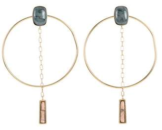 Isabel Marant Ceramic hoop earrings