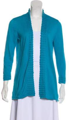 Magaschoni Silk & Cashmere-Blend Knit Cardigan blue Silk & Cashmere-Blend Knit Cardigan