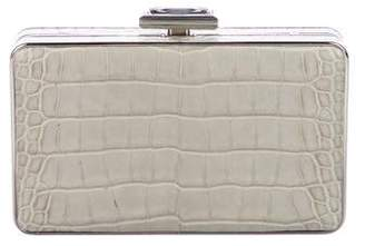 Judith Leiber Crystal-Embellished Crocodile Clutch