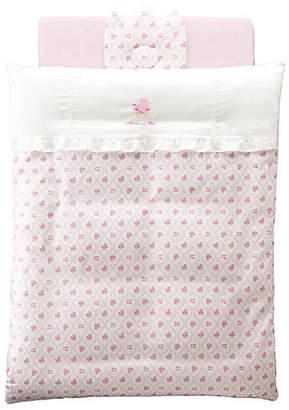 [赤ちゃんの城] ミニふとんセット メモリー ピンク