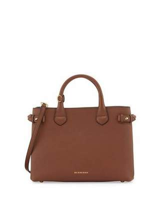 Burberry Banner Medium House Check Derby Tote Bag, Tan
