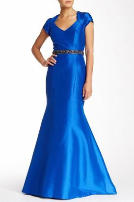 Theia - Satin Mermaid Gown 882358 $459 thestylecure.com