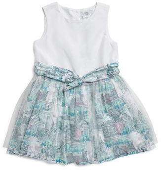 Toddler Girls City Scape Shimmer Dress