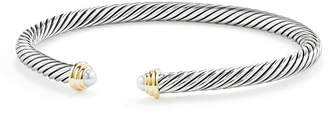 David Yurman Cable Kids Birthstone Bracelet with Cultured Freshwater Pearls & 14K Gold
