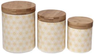 Latitude Run Daisy Dots Ceramic Kitchen Canister Set