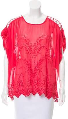IRO Oversize Embroidered Top