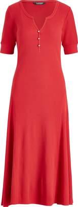 Ralph Lauren Cotton Fit-and-Flare Dress