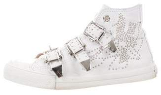 Chloé Kyle Embellished High-Top Sneakers