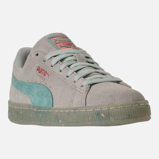 Puma Women's Suede Classic Glitz Casual Shoes