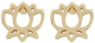 Harrods Gold-Plated Lotus Flower Stud Earrings