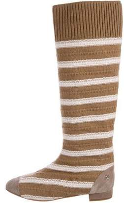 Chanel Knit Knee-High Boots w/ Tags