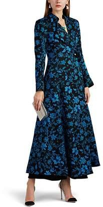 Rebecca de Ravenel Women's Floral Silk-Wool Long Coat