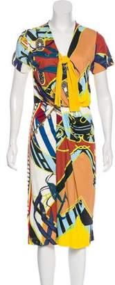 Fuzzi Knee-Length Printed Dress
