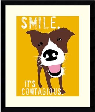 Amanti Art ''Smile'' Dog Framed Wall Art