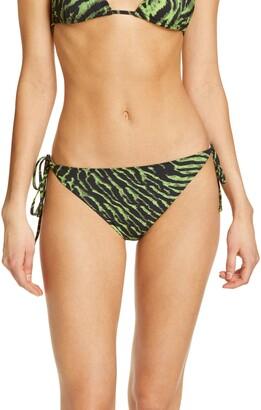 Ganni Tiger Print Bikini Bottoms