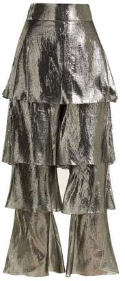 Osman Felix lamé tiered trousers