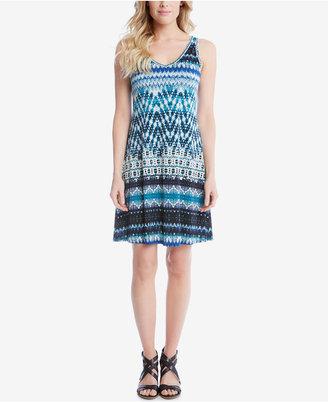 Karen Kane Brigitte Printed A-Line Dress $119 thestylecure.com