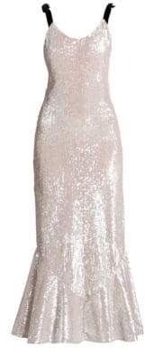 ATTICO Sequin Flutter Maxi Slip Dress
