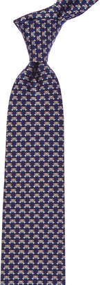 Salvatore Ferragamo Navy Bear Silk Tie