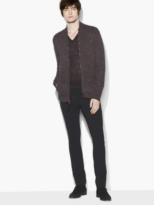 John Varvatos Zip Front Sweater Jacket