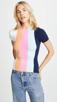 JoosTricot Striped Short Sleeve Sweater