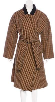 Hache Patterned Belted Coat w/ Tags