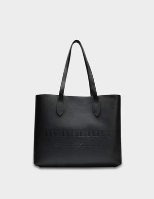 Burberry Large Remington Tote Bag in Black Grained Calfskin