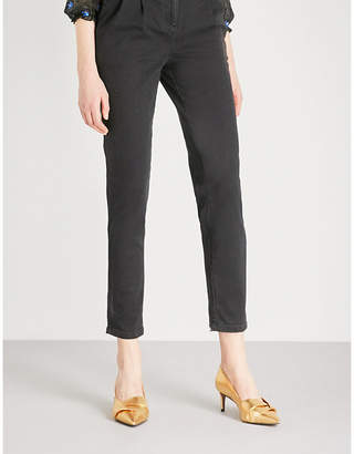 Maje Parisso skinny high-rise jeans