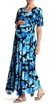 Everly Grey Maternity Asa Wrap Dress (Maternity)