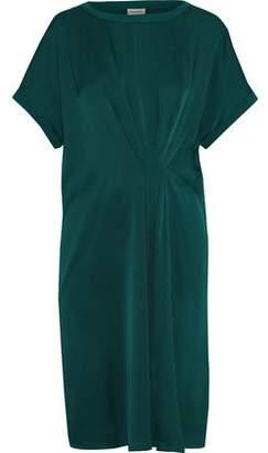 By Malene Birger Linana Pleated Satin-Crepe Dress