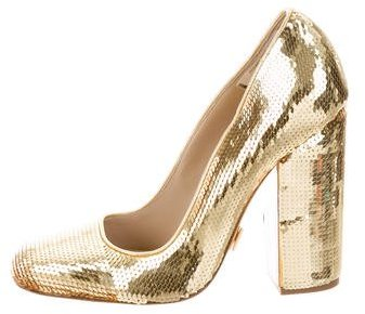 Michael Kors Sequin Square-Toe Pumps