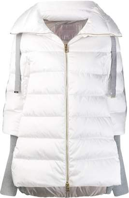 Herno contrasting sleeves padded coat