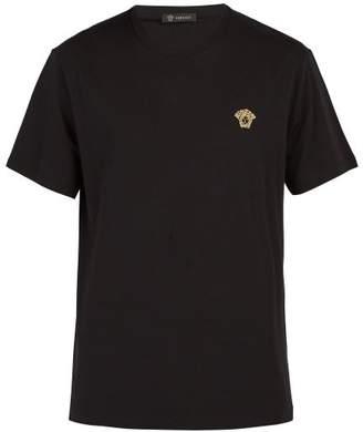 Versace Medusa Logo T Shirt - Mens - Black