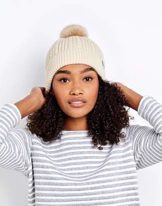 Joules Clothing Cream Knitted Bobble Hat